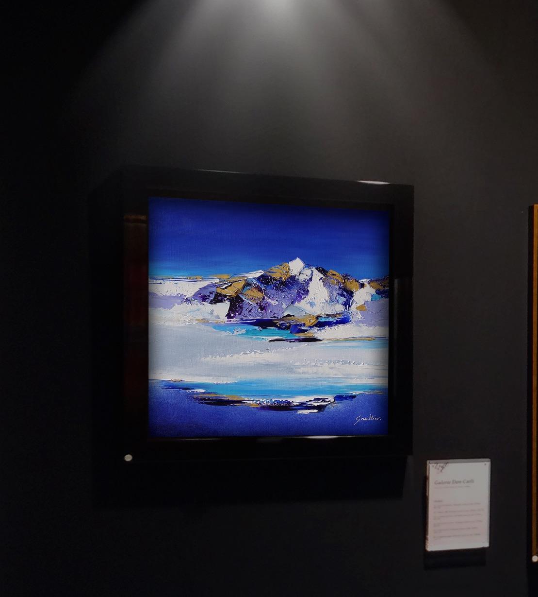 Dominique Mylène Gaultier Bleu cristal 50x50cm