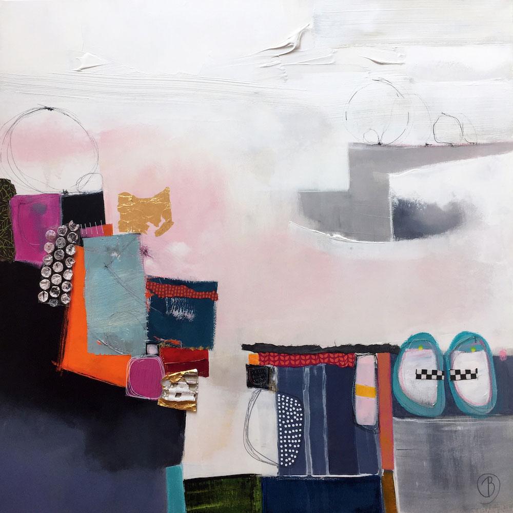 Lau Blou Gravir les obstacle peinture Galerie Don Carli
