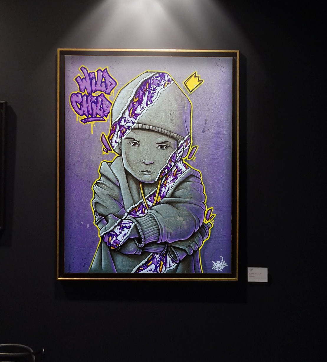 OPOIL Wild child 61x50cm Galerie Don Carli