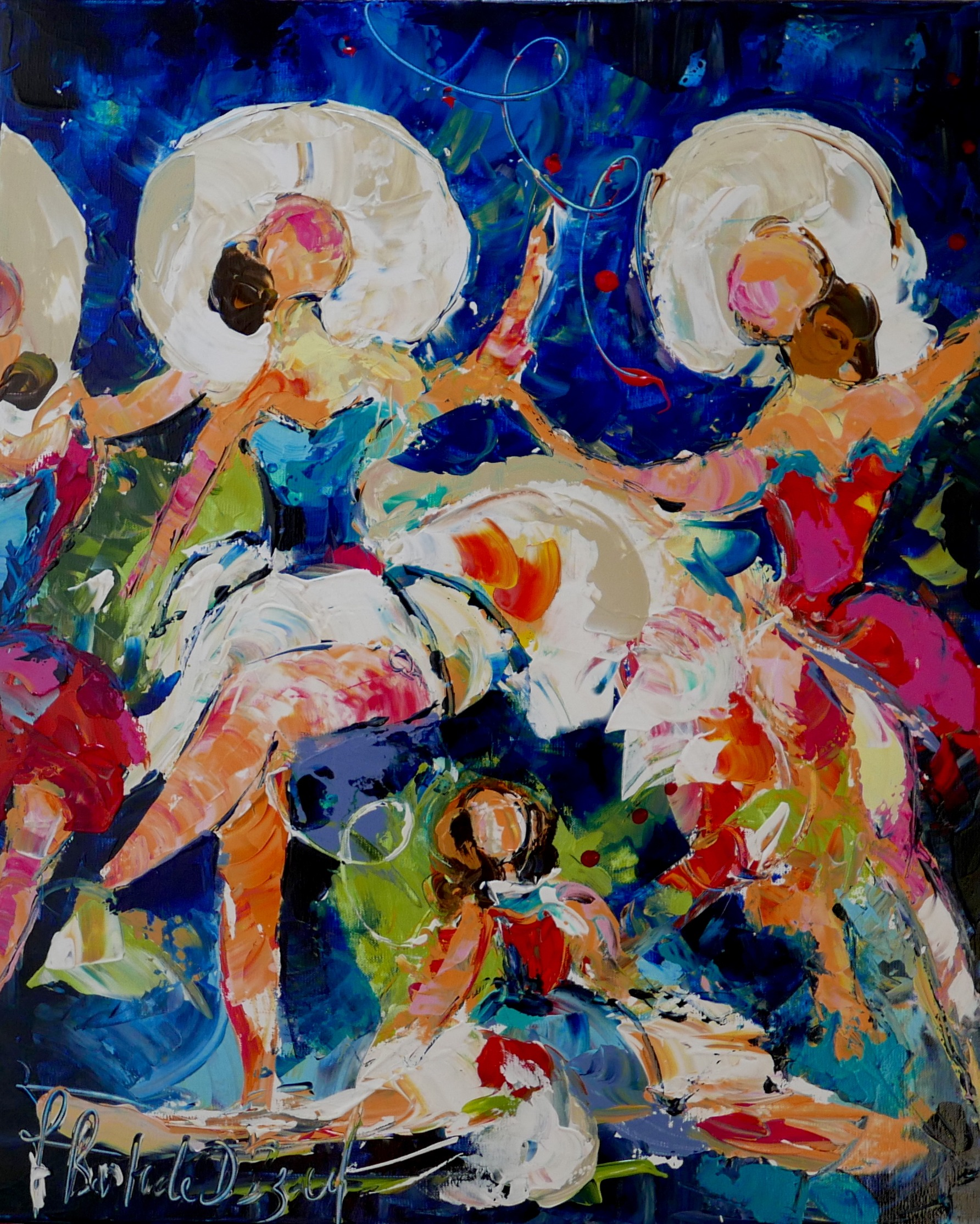 Peinture Armelle Bastide d'Izard Danseuses bleues