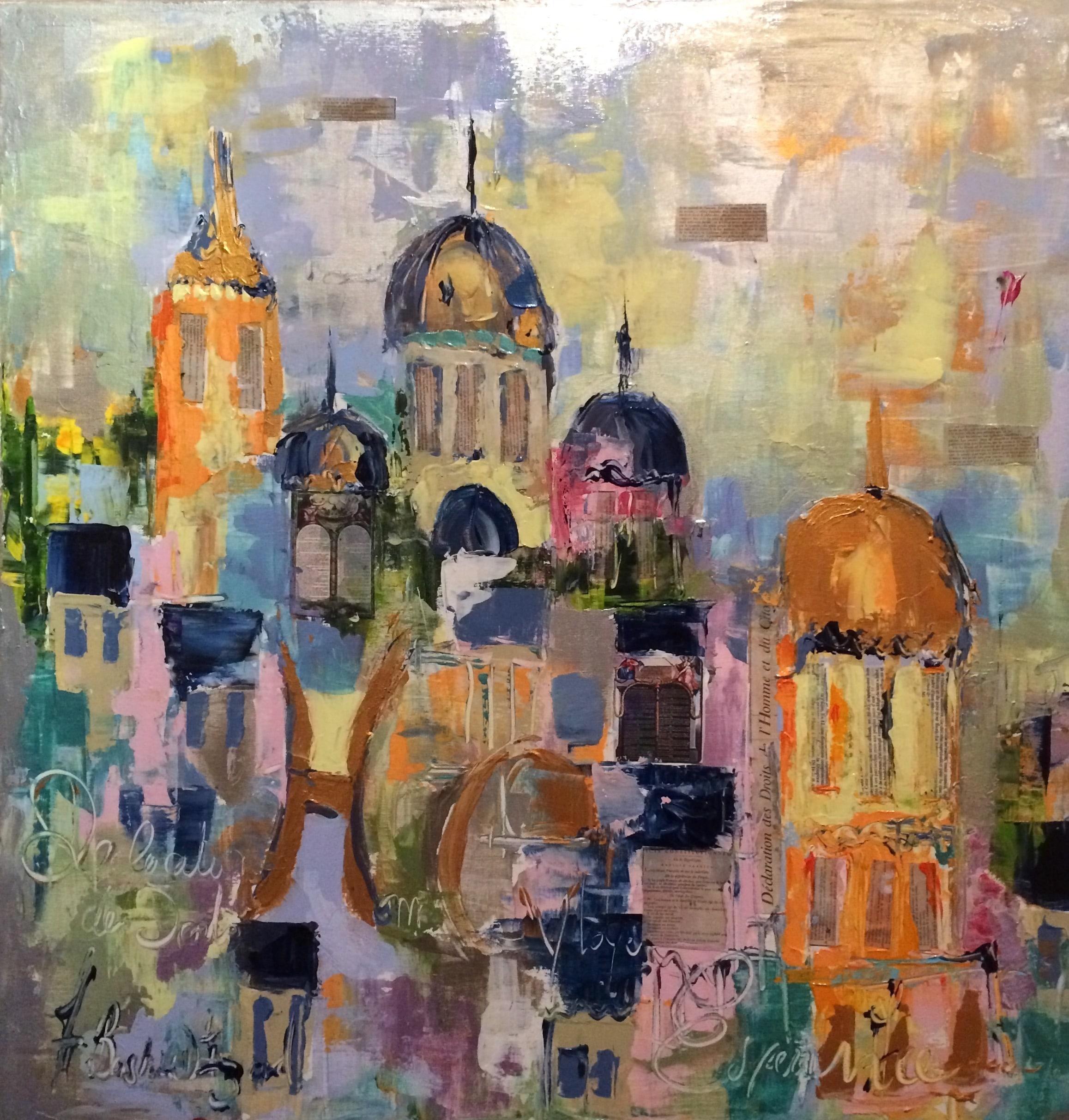 Armelle Bastide d'Izard Paris mon amour oeuvre d'art