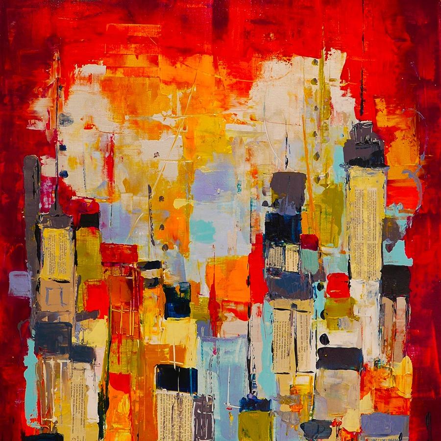 Armelle Bastide d'Izard NY tableau Galerie Lyon