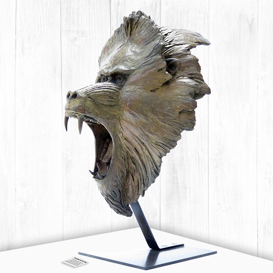Tête de lion sculpture Pierre-Jean Chabert