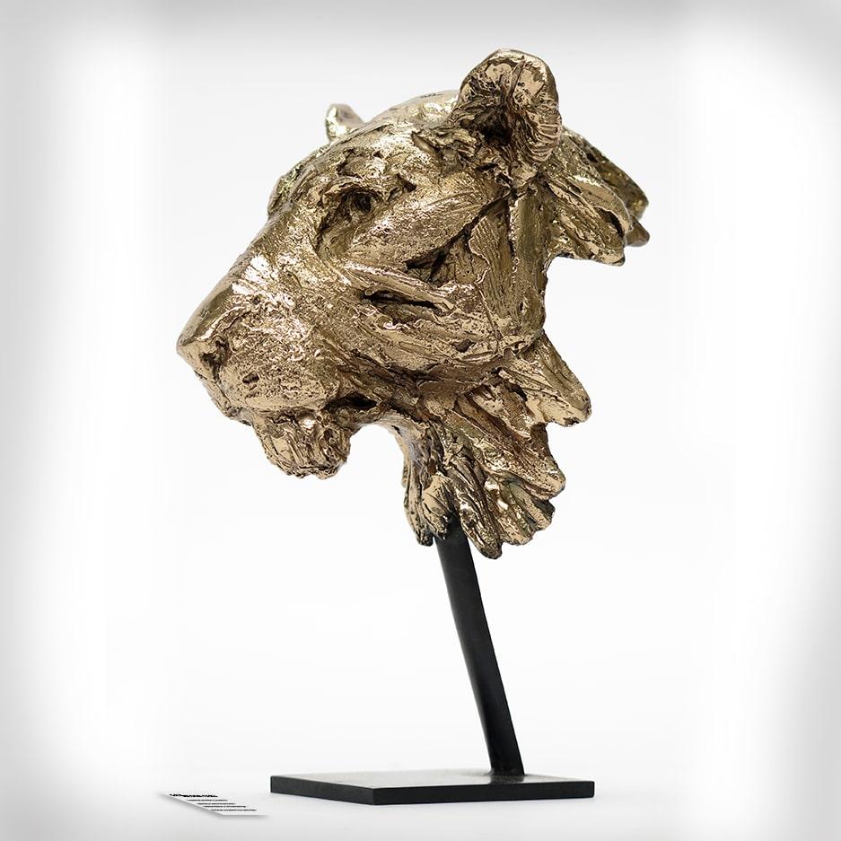Sculpture tête de lionne Pierre-Jean Chabert Don Carli